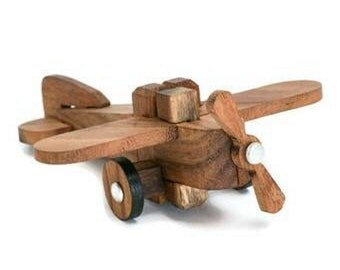Wooden Toy : Airplane 3D Wooden Puzzle - The Organic Natural Puzzle Game Play for Baby and Kids