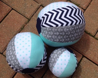 Baby, Toddler, and Child Toys - Stuffed Fabric Beach Balls, Baby Rattles, Kids Toys, Beach Ball Accessories, Baby Toys, Beach Ball Decor
