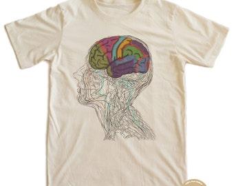 Colourful Brain Punk T-shirt 100% Organic Cotton