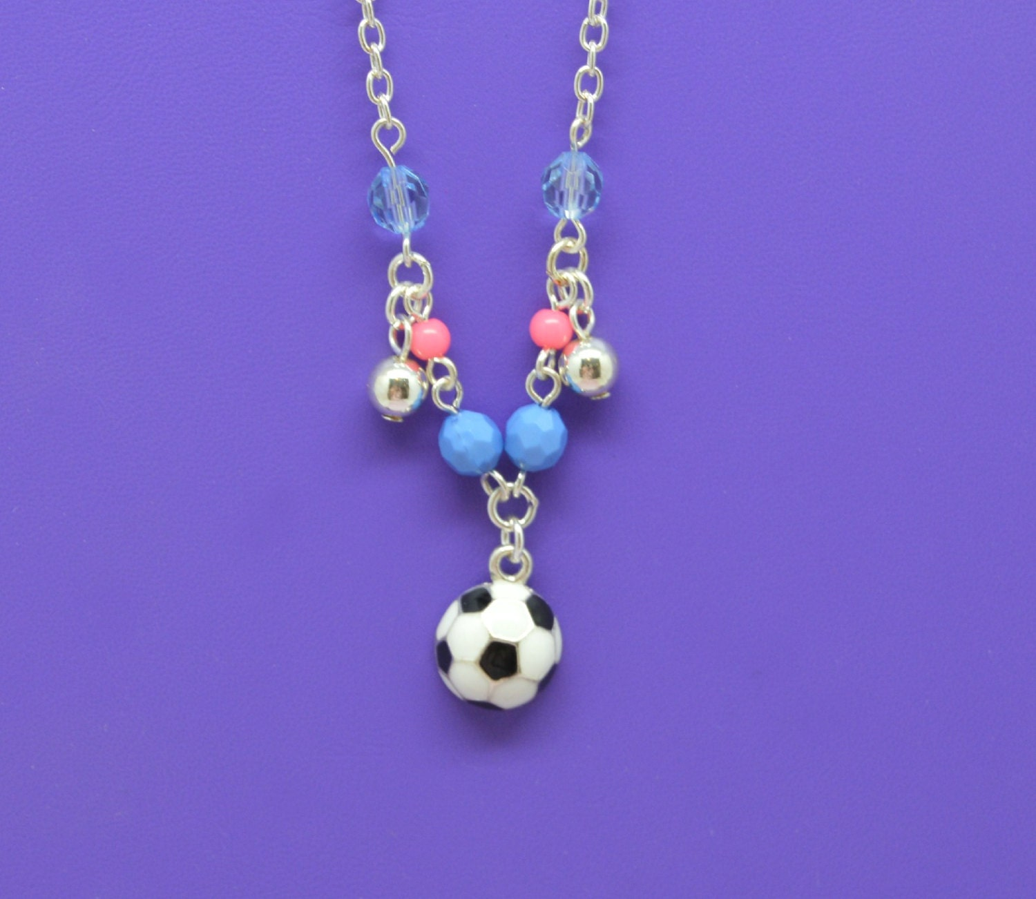 Soccer Charm Necklace Little Girls Jewelry Adorable Childs