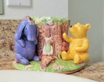 Vintage Disney Winnie the Pooh Ceramic Toothbrush Holder