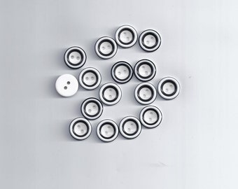 10 pcs 2 Holes Black/White color Round Buttons as Doll Eye decoration 13