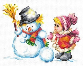 Cross Stitch Kit Winter fun