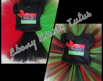 Pan African/ Kwanzaa themed tutu set