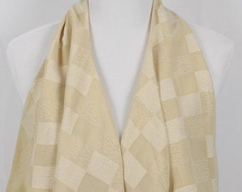Gold Checkers Scarf