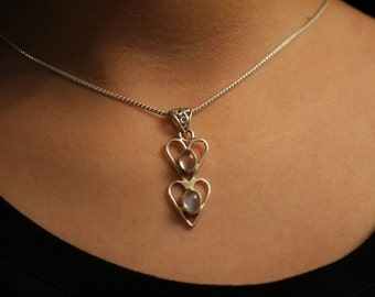 9.25  Silver Moonstone neckace