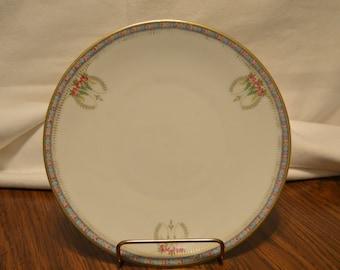 Bavaria Plate Hand Painted Porcelain Plate - Vintage  Item #1574
