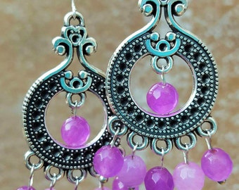 Earrings Amethyst earrings 925 Silver earrings Amethyst earring earring chandelier