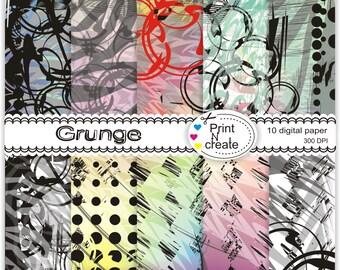 Grunge paper pack - Digital Paper Pack - paper pack man, scrapbooking paper pad - Digital Scrapbooking -Instant Download- SALE
