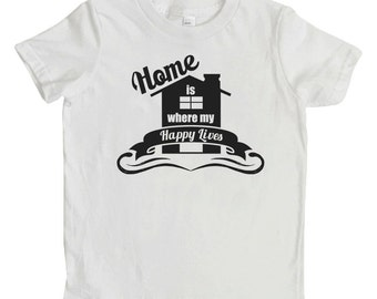 Home Printed T-Shirts, Home Printed Shirts, Toddler Clothing, Children's Clothing, Kid's Clothing, Kid's T-shirts, Family Shirts, Happy Home