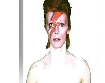David Bowie Ziggy Stardust Large A1 Canvas