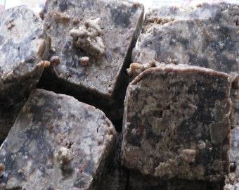 Unrefined African Black Soap Natural ORGANIC VEGAN From GHANA 2oz- 32oz (2lb)