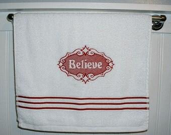 Terry Cloth Hand Towel - Believe