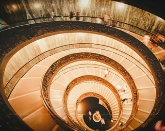 Bramante Staircase of Vatican Museum Photo Print