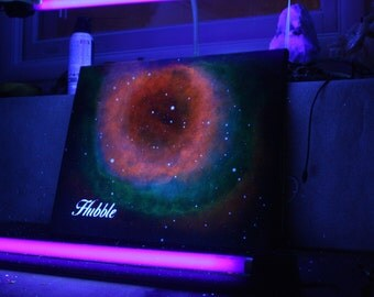 "Blacklight ""Hubble"" Painting - 16x20"