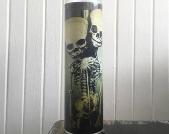 Two Headed/ Odditie skeleton Prayer candle