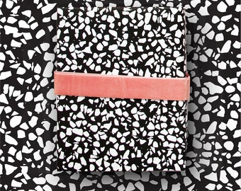 Black White Memphis Speckle Gift Wrap - Terrazzo wrapping paper - modern   crafting paper scrapbooking - sheets rolls Birthday backdrop