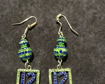 Seattle Seahawks Bling Earrings