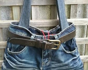Refashioned jean bag