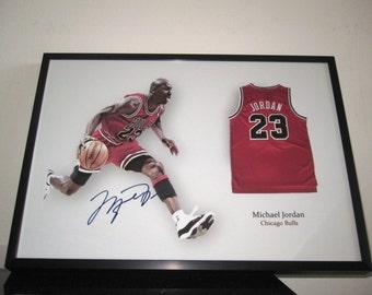 Michael Jordan - signed - Jersey - Chicago Bulls - NBA LEGEND