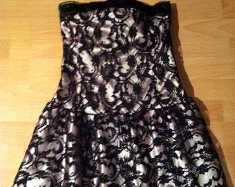 Beautiful black lace and pink dress size 14 UK
