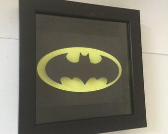 Batman Bat Signal, Batman Cut Out, 3D, Bat Signal, Batman Shadow Box