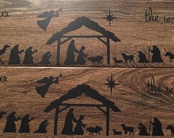 Nativity Scene Tile