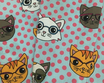 Nerdy Cats 1/2 yd
