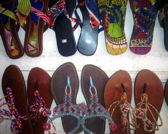 African Beads  Sandals