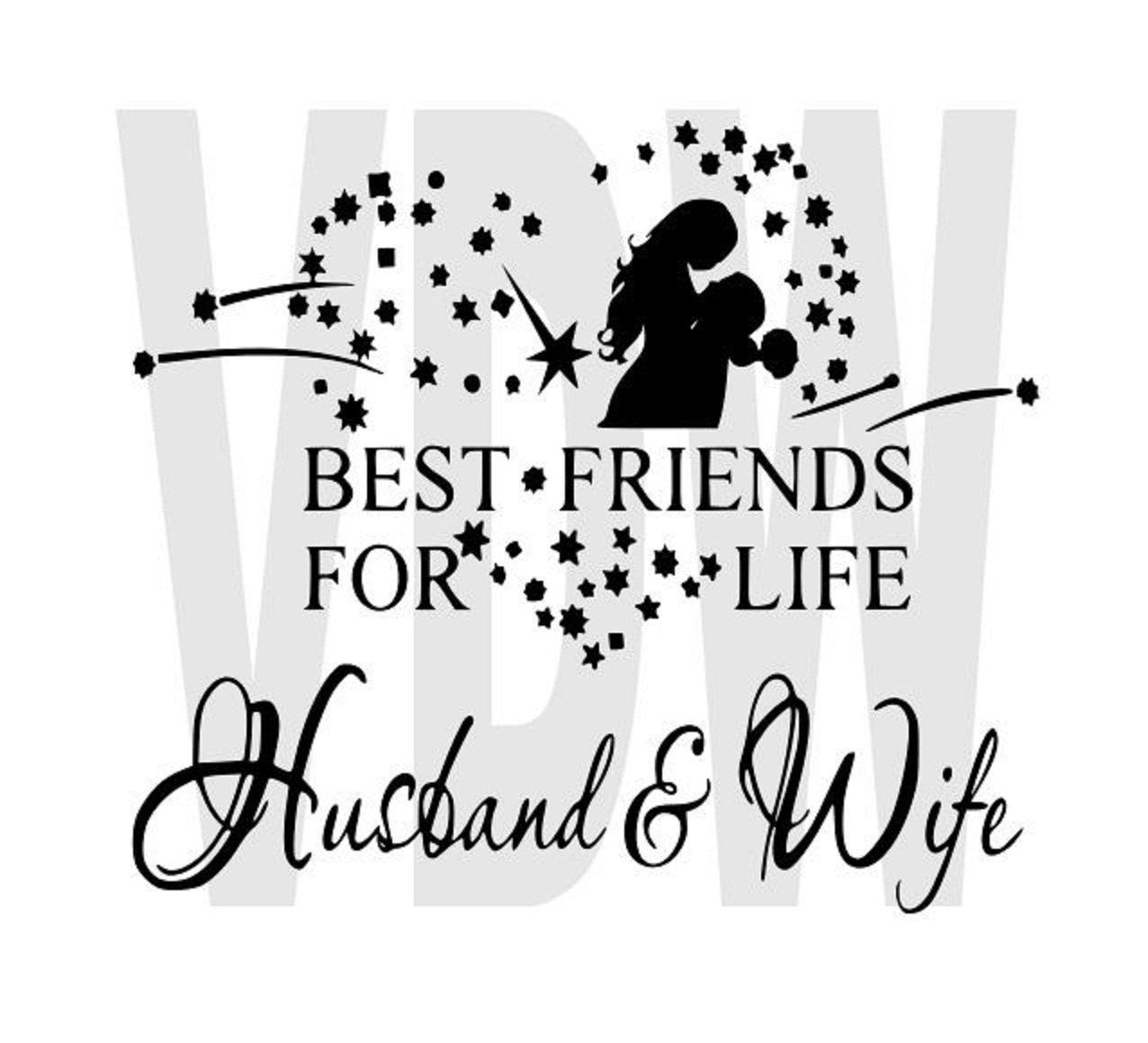 Best Husband And Wife: Best Friends For Life Husband And Wife Cutting By