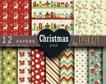 30% OFF AND MORE. Christmas digital paper. Christmas paper. Red green. Christmas. Christmas digital. Christmas candy.
