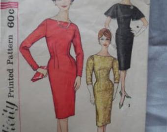 Vintage Simplicity 3156 Misses' sz 12 Wiggle Dress Pattern