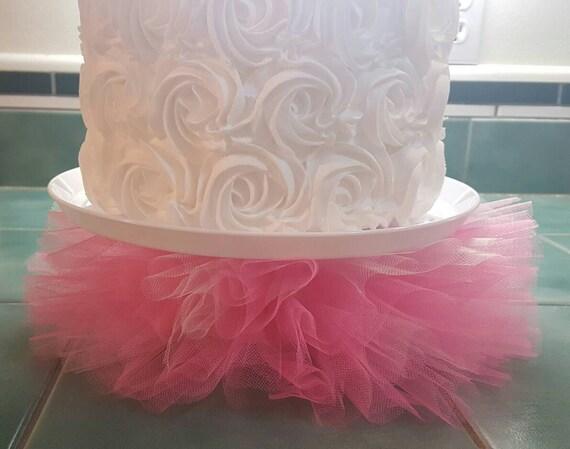 Cake Stand Tutu Princess Pink Tulle Cake Plate Cupcake Platter