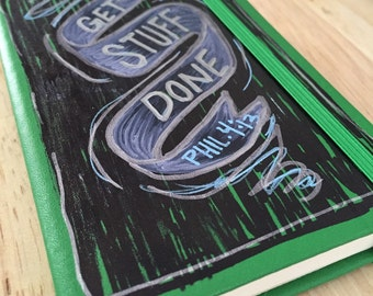 """Hand Painted Journal Small """"Phil.4:13"""""""