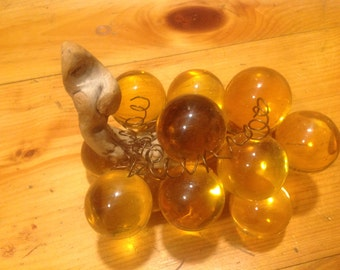 Vintage Amber Lucite Grapes