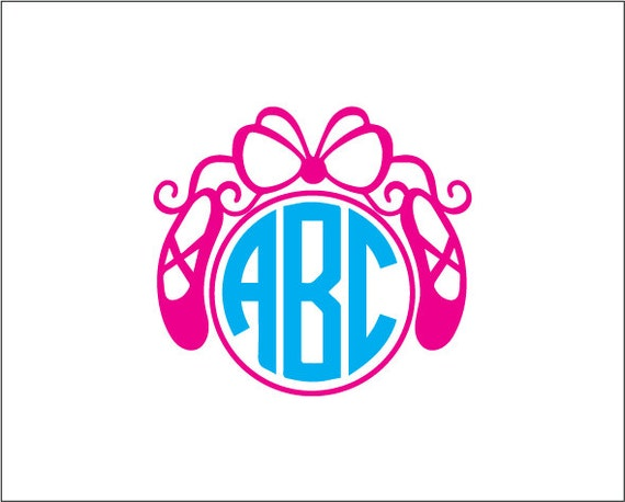 Ballet Monogram Vinyl Decal Ballet Dancer Yeti Decal Ballet