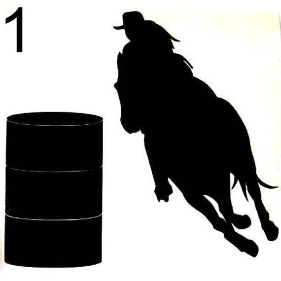 barrel racing decal - photo #7