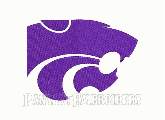 9 Size Kansas State Wildcats Logo Embroidery Designs