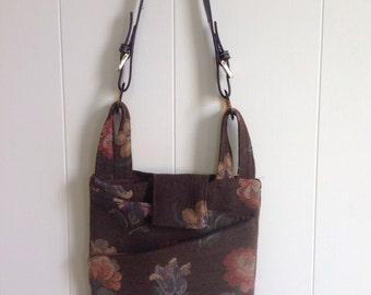 Handmade repurposed wool handbag