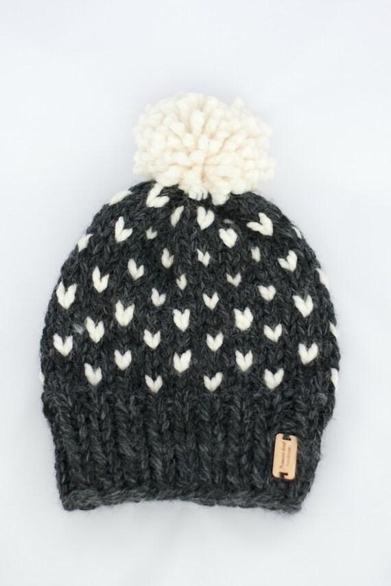 KNITTING PATTERN Fair Isle Chunky Knit Hat Beginner / Starlight Hat from Fran...
