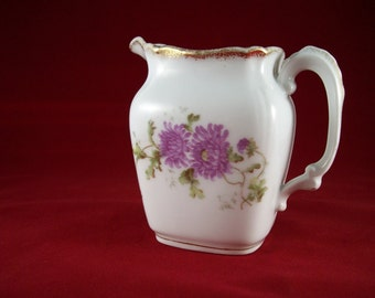 Antique KPM Floral Pitcher