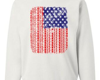 American Flag Aztec Sweatshirt 4th Of July USA Patriotic Sweatshirt 100076-CS