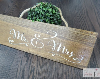 Mr & Mrs Vintage Signs