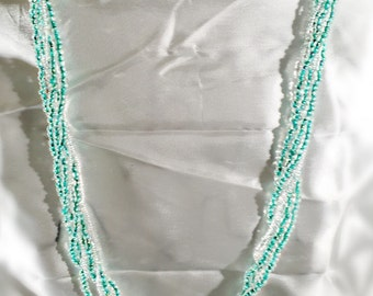 Teal Beadwork Necklace