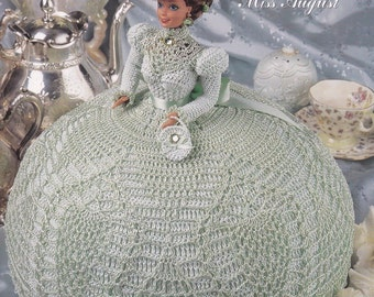 Miss August, Annie's Attic Gems of the South Crochet Fashion Doll Clothes Pattern Booklet 8008