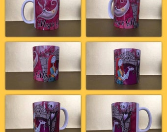 nightmare before christmas jack tim burton this is halloween personalised mug gift present