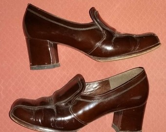 Glossy brown vintage shoes