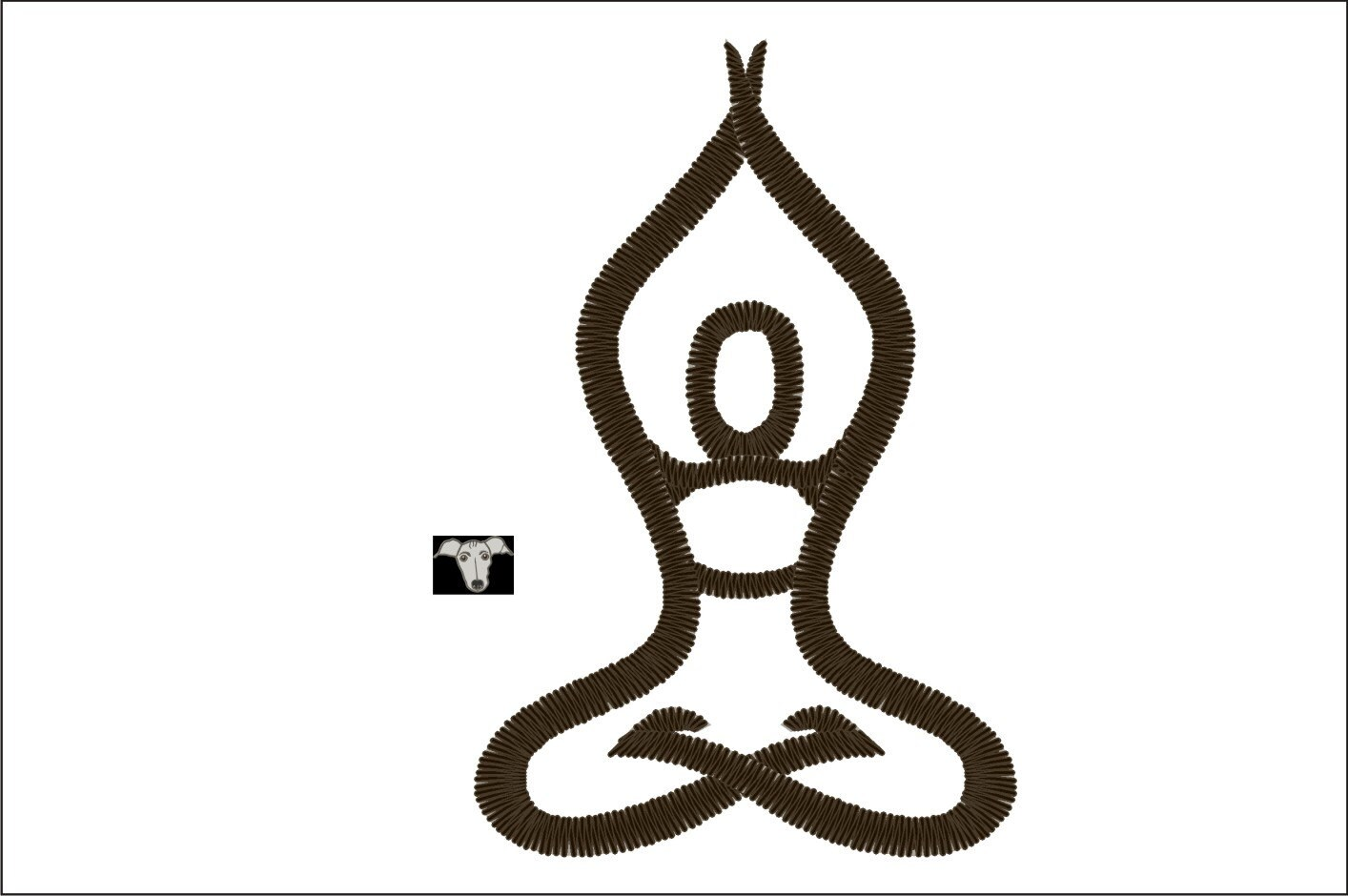 Yoga embroidery designs in sizes