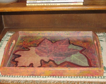 Painted and Decoupaged Tray