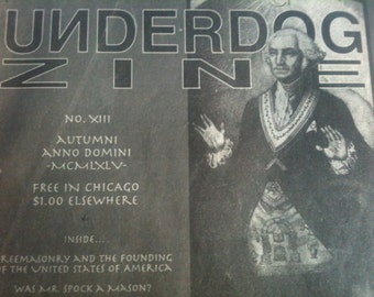 Underdog Zine Issue 13, 1995 / Punk Zine / Underdog Records/ Chicago Punk / 1995 D.I.Y.